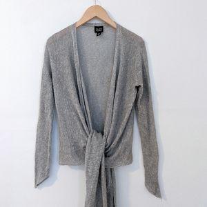 Eileen Fisher Linen & Silk Gray Cardigan size S